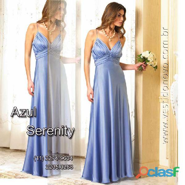 Vestido azul serenity, madrinha de casamento