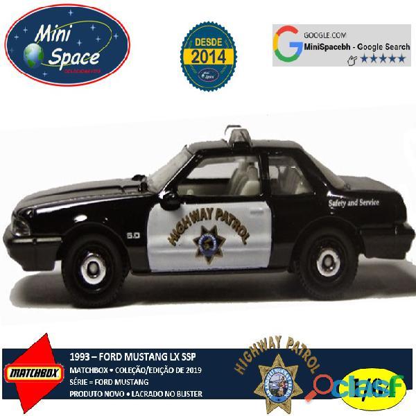 Matchbox 1993 Ford Mustang SSP Highway Patrol Polícia 1/64