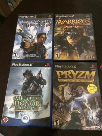 Lote de 4 jogos originais ps2