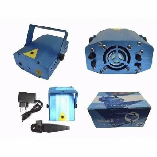 Mini laser stage lighting projetor holográfico tripé