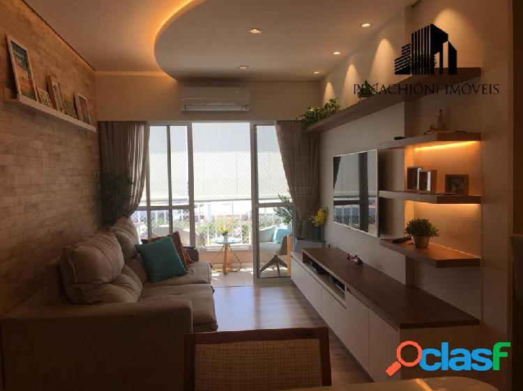 Apartamento no moradas panzam- av cillos, 90m² 3 quartos