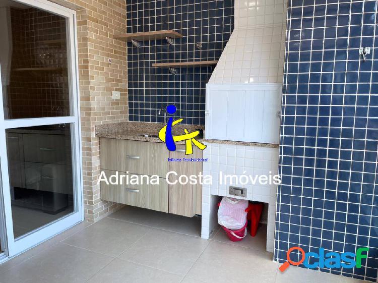 Apartamento 2 dormitórios com sacada gourmet a 100 metros da praia mongaguá