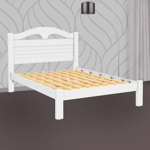 Cama de casal de madeira melissa branco