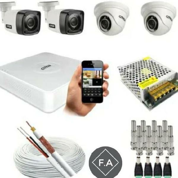 Kit câmeras de segurança instalado!