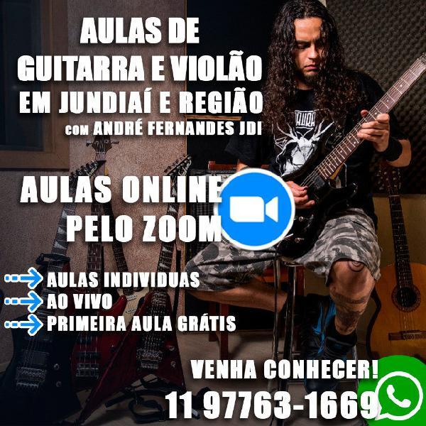 Aulas guitarra e violão online jundiaí e região