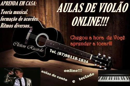 Aulas online de violão,teclado,guitarra e tecnica vocal