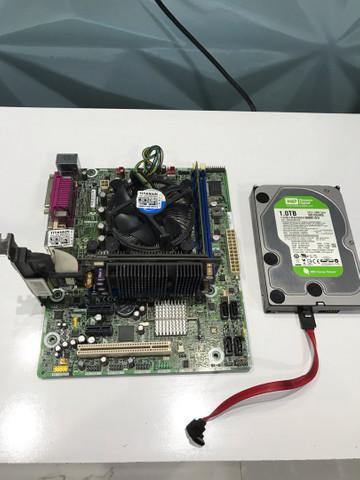 Kit placa mãe 3 geração 4gb hd 1tb