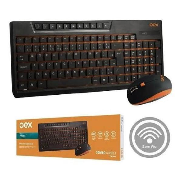 Kit teclado e mouse sem fio oex sunset