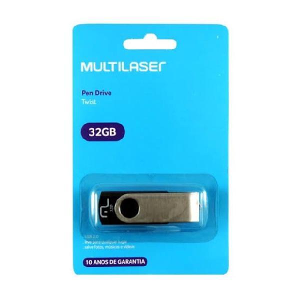 Pen drive 32gb multilaser original lacrado