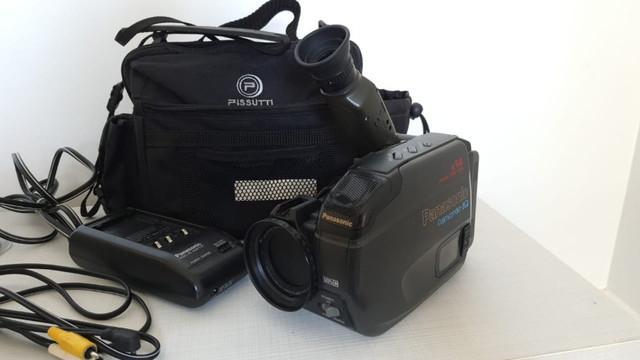 Filmadora vhs panasonic usada e acessórios palmcorder iq