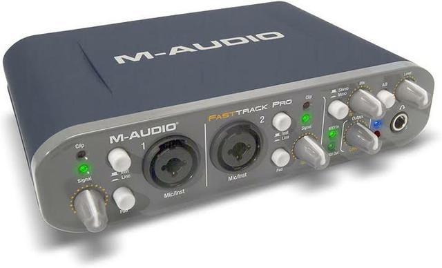 Interface de áudio m-audio fast track pro