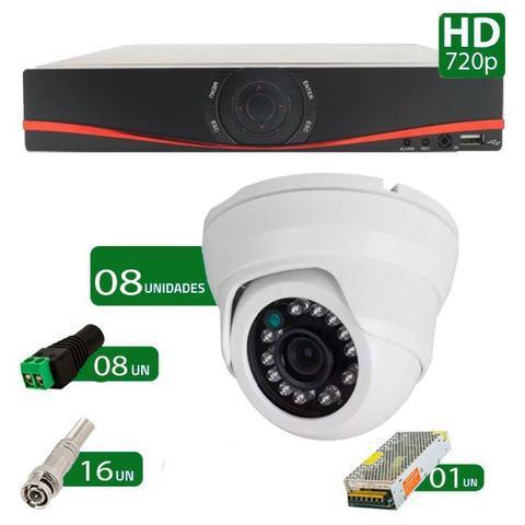 Kit cftv 08 câmeras dome infra hd 720p importado