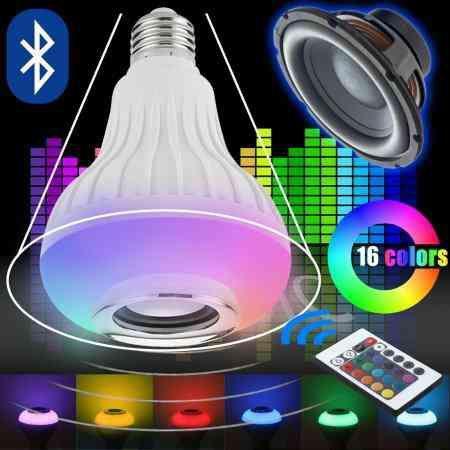 Lâmpada led com caixa de som music bulb ??: