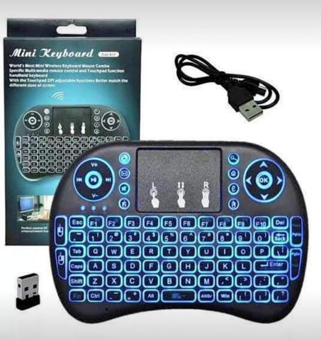 Mini teclado wireless com led entrega grátis