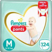 Recorrente] fralda pampers pants premium care m 124