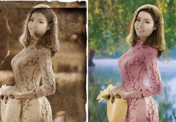 Restauração de fotos antigas e danificadas