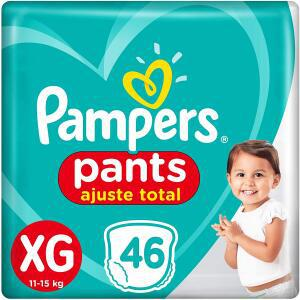 Recorrente] fralda pampers pants ajuste total xg 46