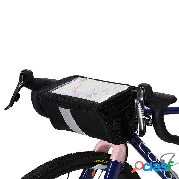 Bicicleta bolsa mountain bbike viga dianteira bolsa telefone bolsa telefone para andar de bicicleta bolsa ferramentas ao