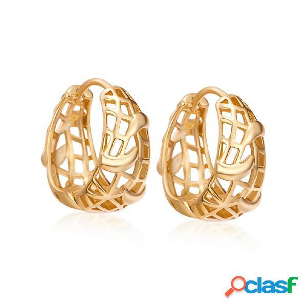 Moda dangle brincos de ouro oco recipiente geométrico brincos de orelha gota de jóias para as mulheres