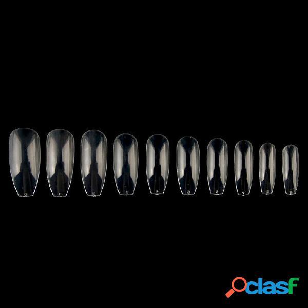 500pcs transparent ballet nail tips long coffin false artificial diy nail art manicure