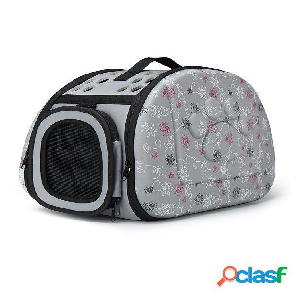 Animal de estimação portátil tamanho m cachorro cat carrier travel bolsa transportador de animais de estimação confortáv