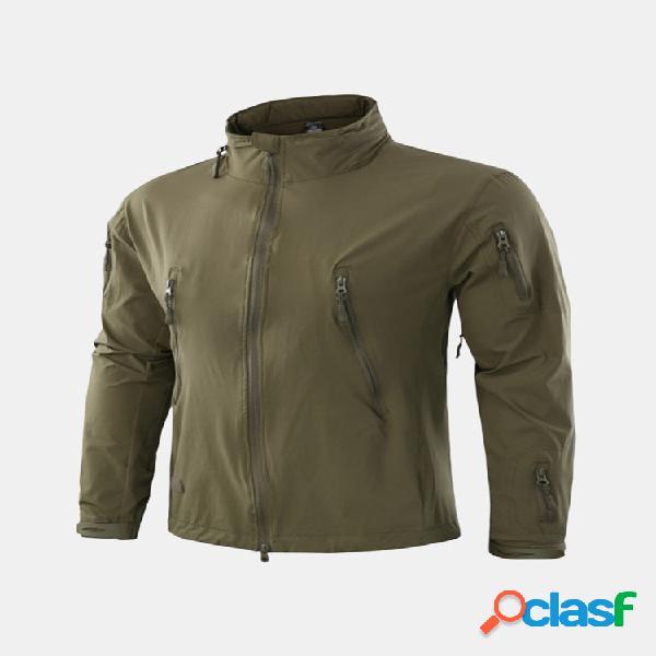Mens queda fina respirável escondido casaco com capuz à prova de vento quick-dry escalada repelente de água jaquetas