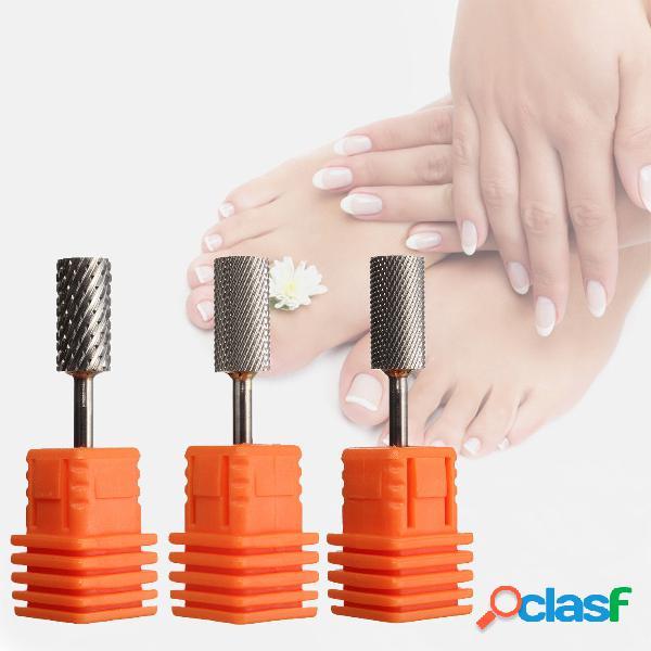 "3/32 ""nails drill bits files cilindro carbide para nail art salon electric manicure tools 3 styles"