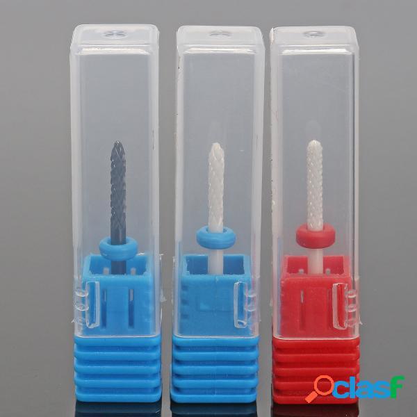 Cabeça de polimento de unhas de cerâmica de 3 estilos para manicure de arte de unhas