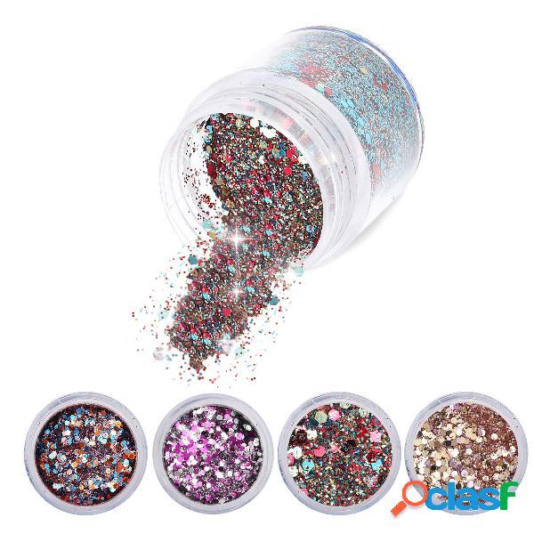 Nail art glitter dust powder sequins tips 3d manicure decoration