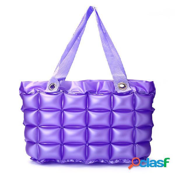 Armazenamento de viagem inflável de 7 cores bolsa grande bolsa à prova d'água praia bolsa compras bolsa