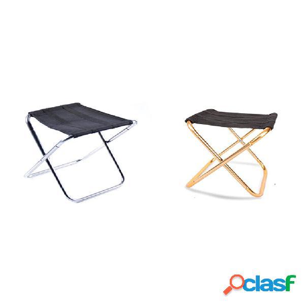 Acampamento ao ar livre cadeira dobrável liga de alumínio aviação alumínio cadeira de pesca tamborete dobrável portátil