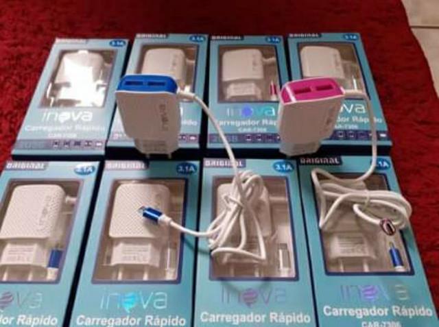 Carregador de celular original inova 3.1a