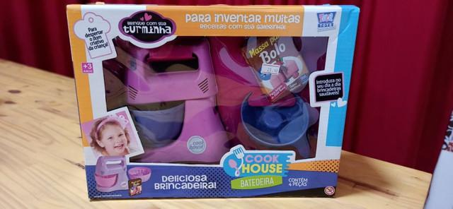 Kit batedeira cook house cozinha brinquedo infantil