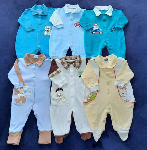 Lote de roupas bebê menino de 0 a 6 meses.
