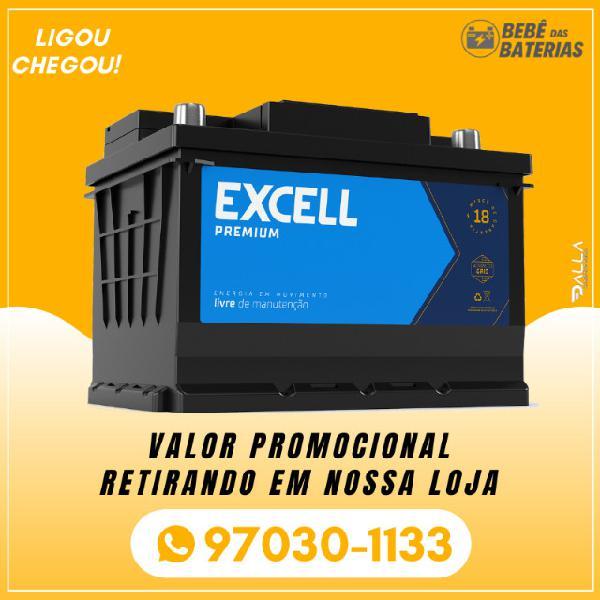 Bateria de carro / automotiva - excell premium 18 meses de