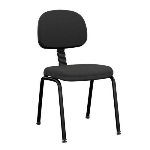Cadeira fixa 4 p/u00e9s slim plaxmetal 39742 23 preto