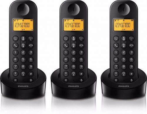 Telefone sem fio philips trio d1303b com identificador de