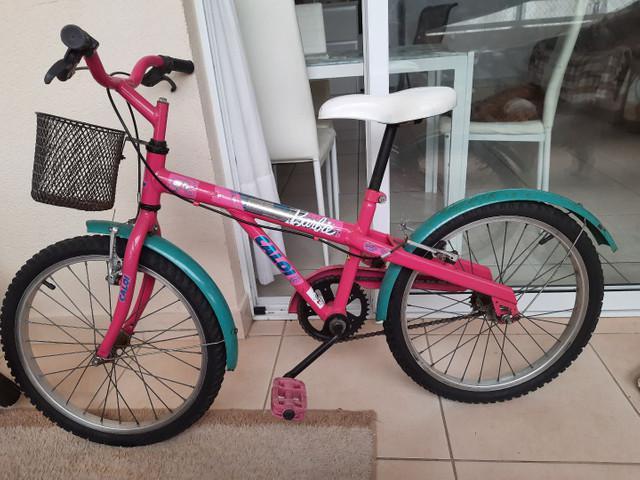 Bicicleta infantil - caloi barbie aro 20
