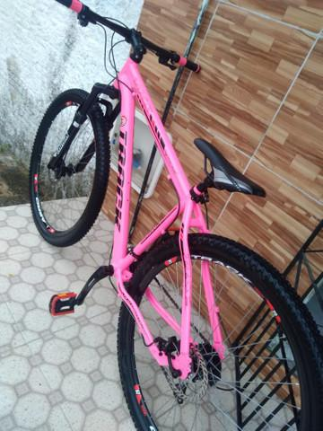 Bike track aro 29 rosa toda shimano