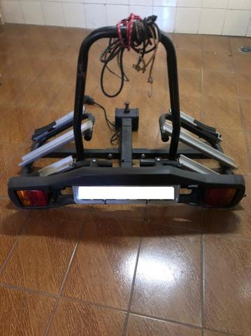 Suporte transbike 3 bicicletas engate rideon com suporte de