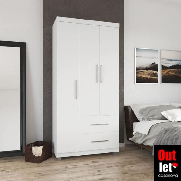 Guarda roupa fluence 3 portas branco novo