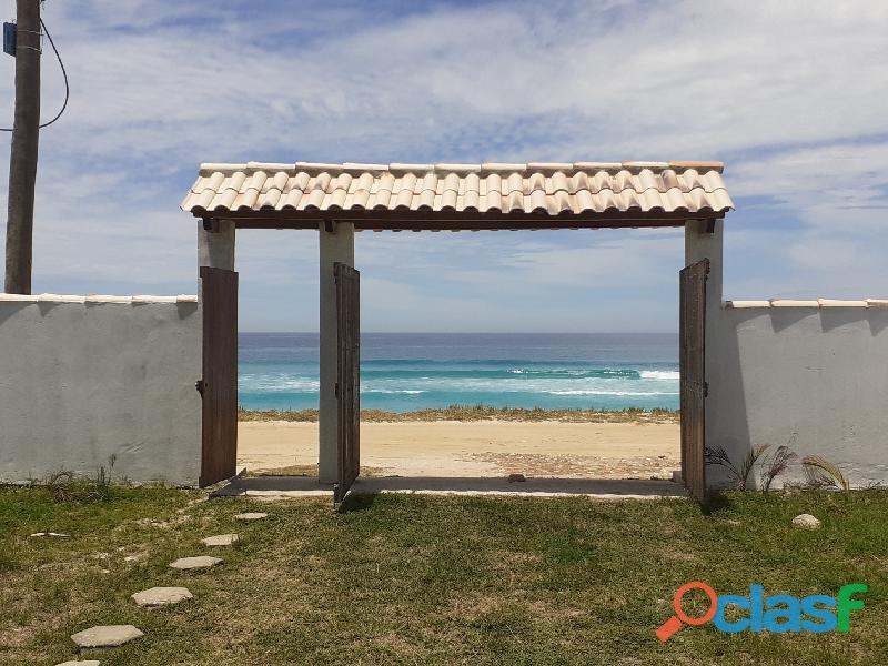 Temporada   casa de frente p praia em figueira   arraial do cabo rj