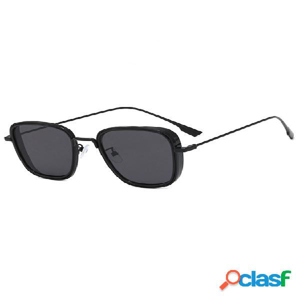 Óculos de sol quadrados retrô moda masculina