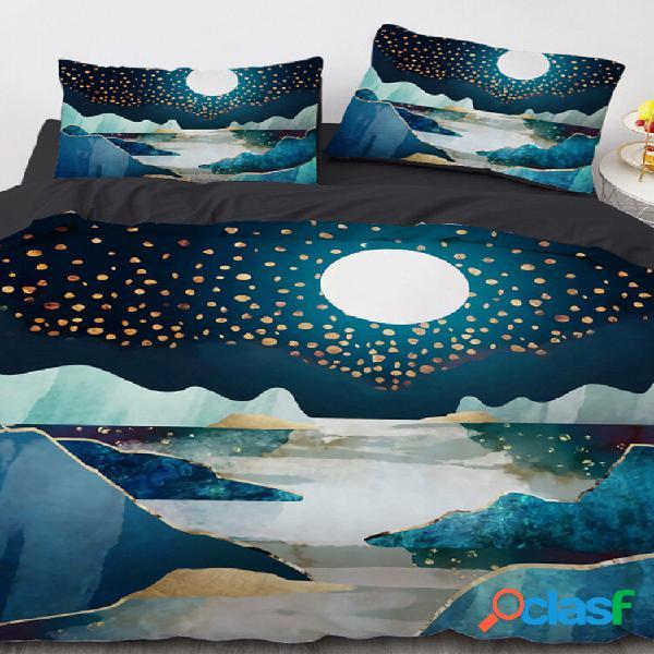 Conjunto de roupa de cama 3d landscape conjunto de capa de edredão conjunto de cama com colchão twin king queen completo