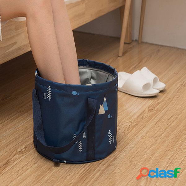 Portátil bolha dobrável bacia ao ar livre de viagem grande lavatório lavagem-pé balde cuidados com os pés