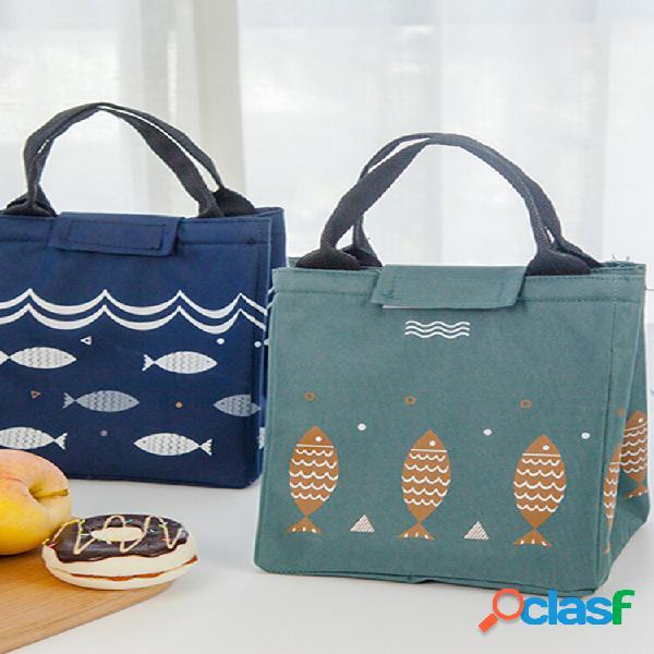Saiclehome lunch tote bolsa oxford cooler waterproof handbag isolated cute recipientes de armazenamento