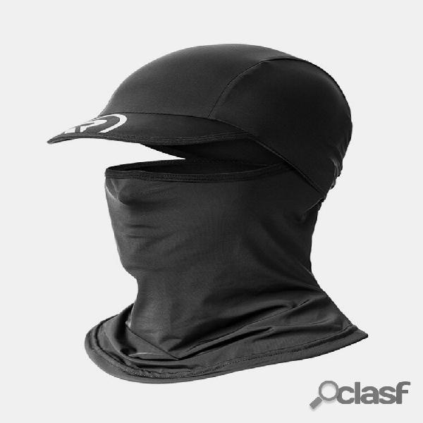 Protetor solar para rosto cheio verão gelo boné de seda masculino babador ao ar livre motocicleta pesca pesca chapéu bon