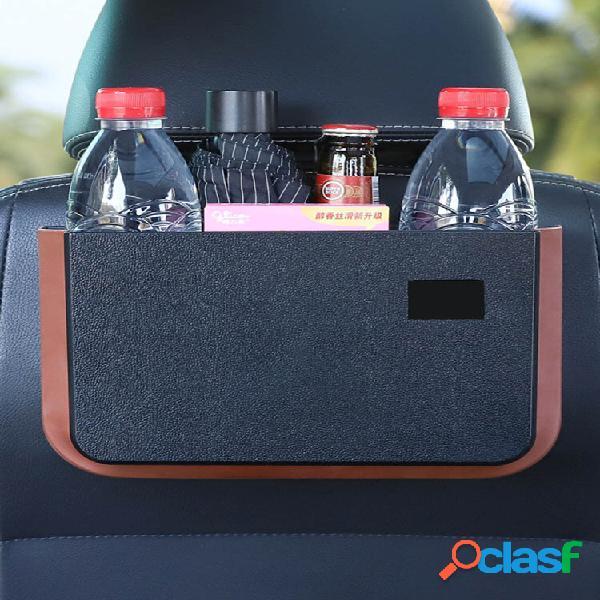 Organizador de armazenamento dobrável para carro assento à prova d'água, pendurado na parte de trás do lixo com mesa peq
