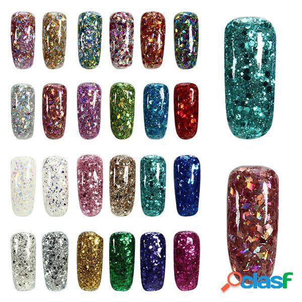 24 cores shining diamond extendar uv gel extension nail art glue manicure