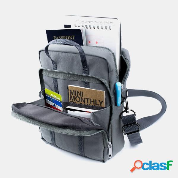Bolsa de mão impermeável multi-bolsos feminina crossbody bolsa